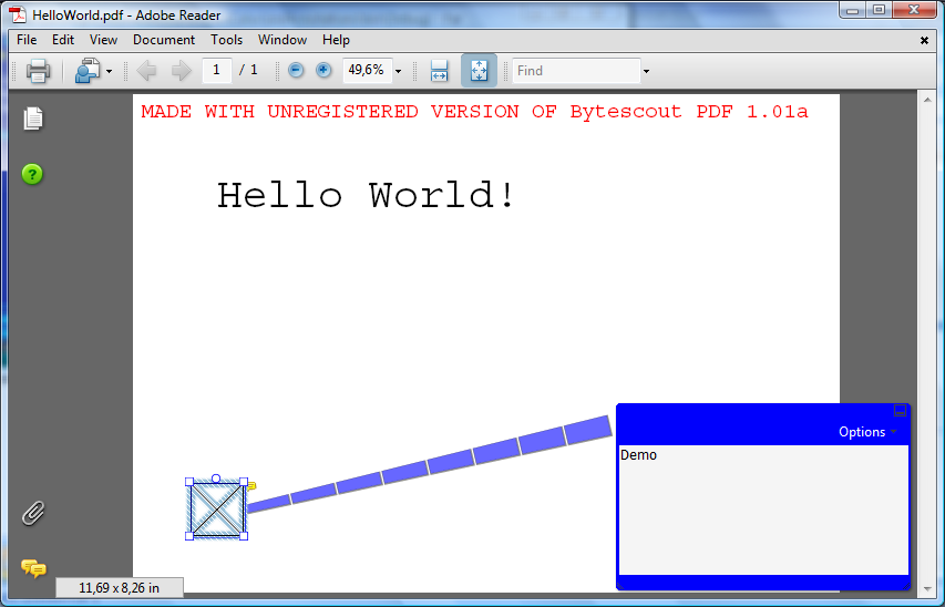 Annotation in PDF generated with ByteScout PDF SDK for .NET