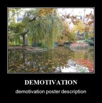 Demotivation Poster sample