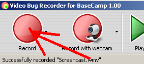 Click Record button to start video recording from your desktop