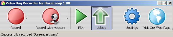 Video Bug Recorder main window