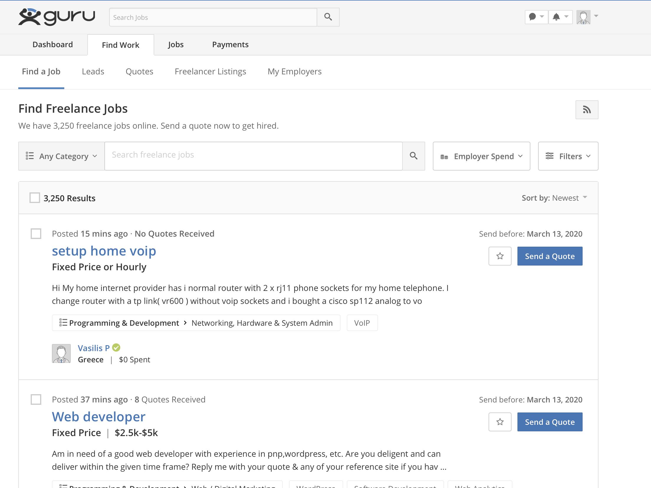 How to Find Job on Guru.com