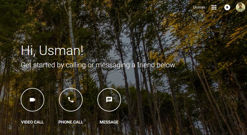Google Hangouts Chat App
