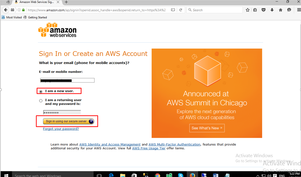 Setup Free AWS account
