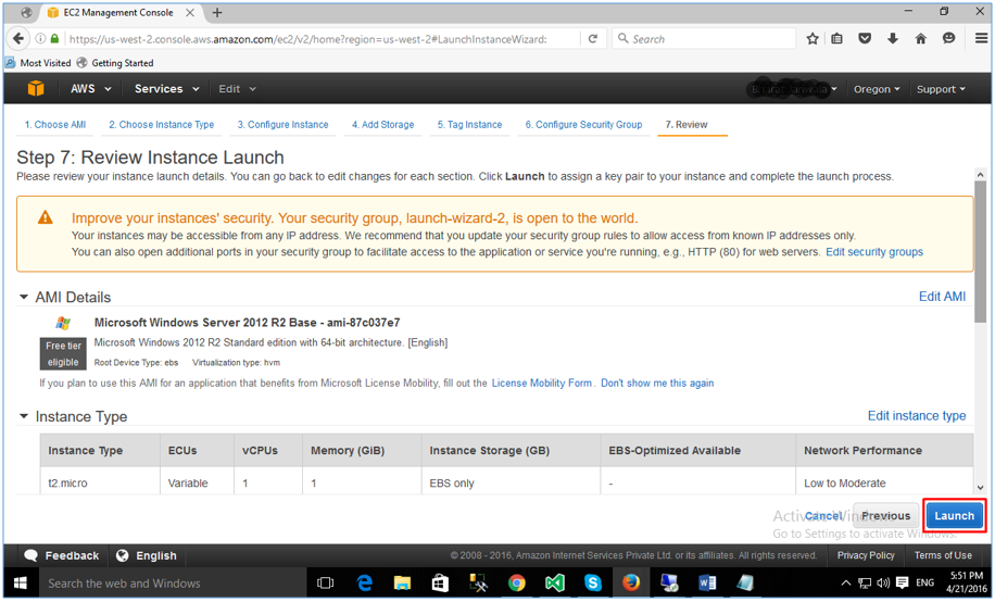 AWS EC2 Instance Launching