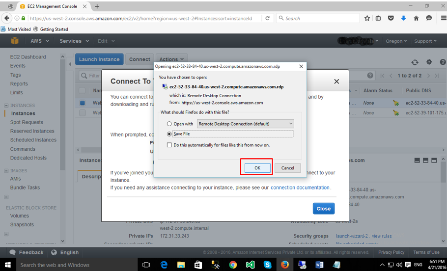 EC2 Remote Desktop Connection