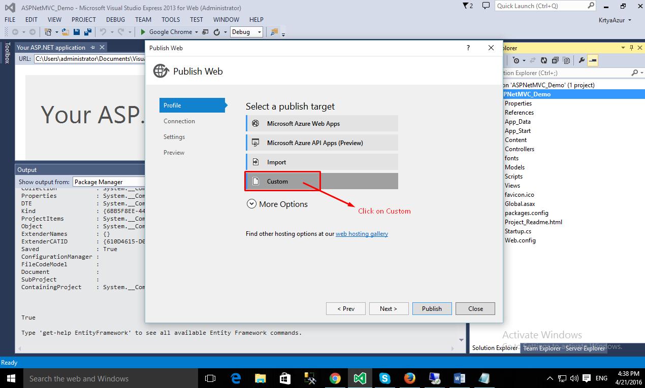 How to setup a Windows Server with ASP NET MVC App on AWS EC2