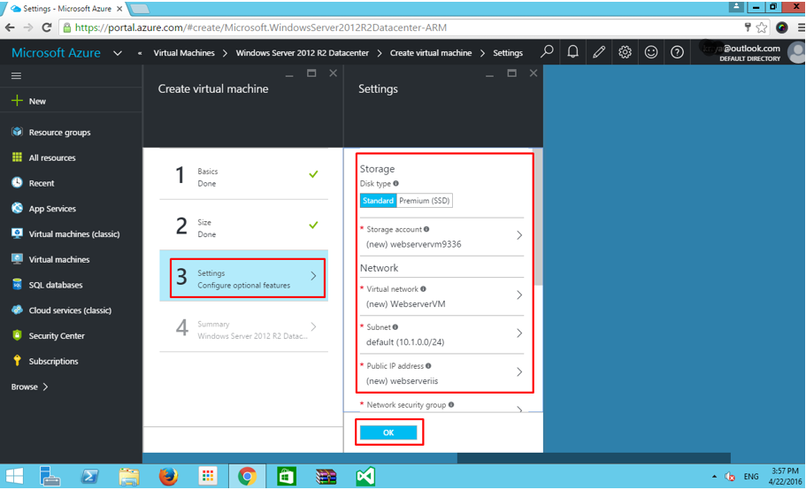 How to setup a Windows Server with ASP NET MVC App on Azure VM