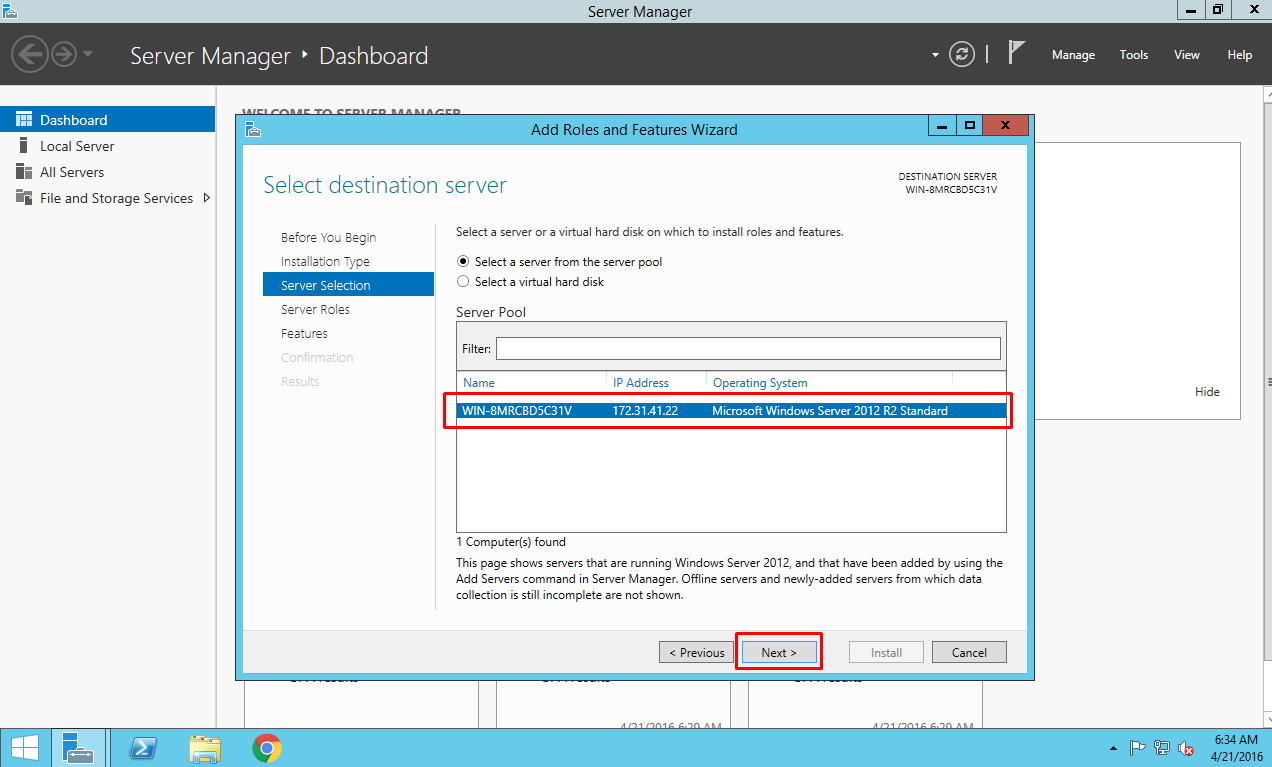 IIS on Azure Select a server from a server pool