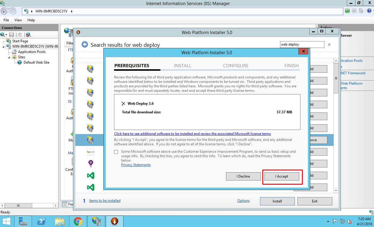 Accept Microsoft License