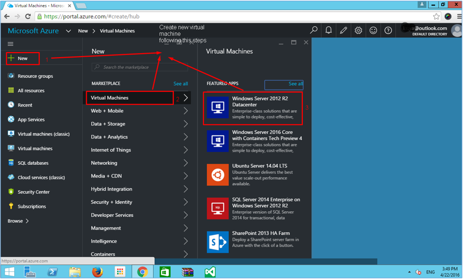 Creating and configuring virtual machine in Azure