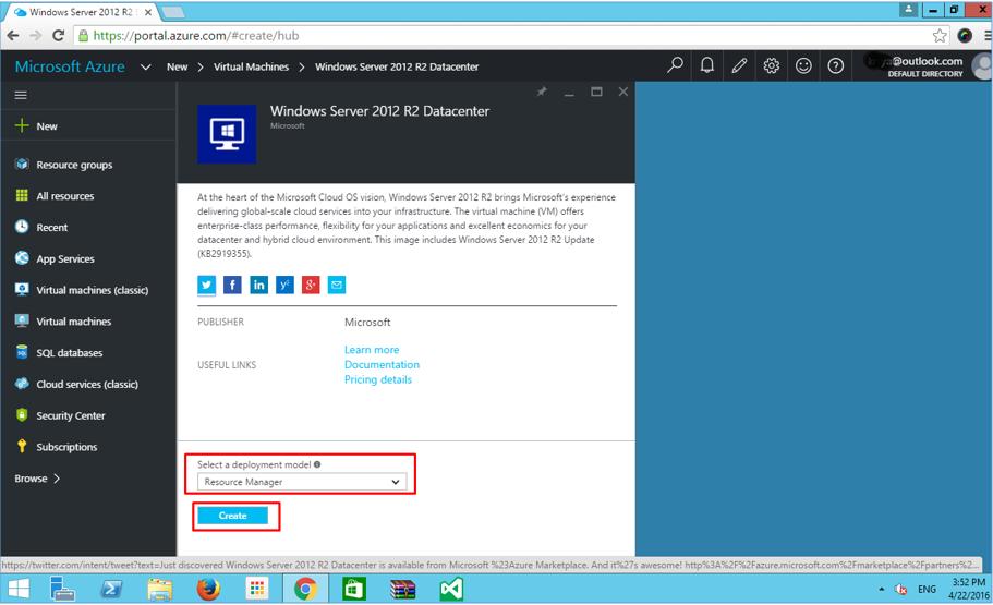 Azure VM Resource Manager