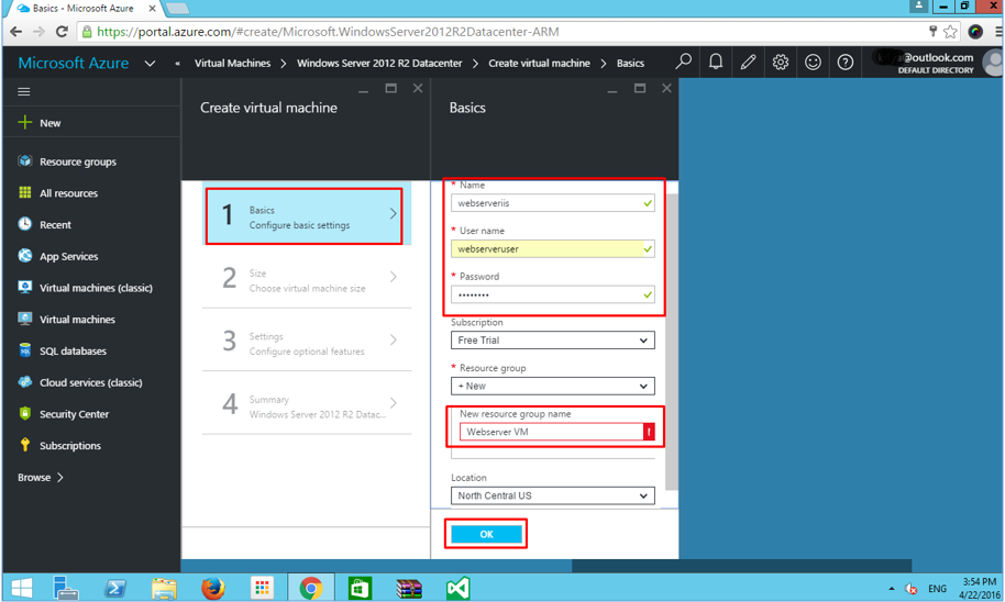 Azure VM Basic Configuration and Settings