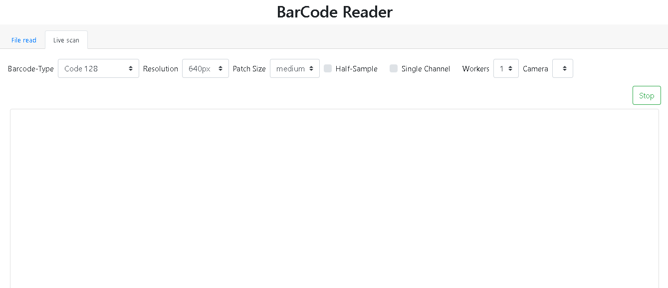 Barcode Reader Online Free from Camera, Online Barcode Scanner