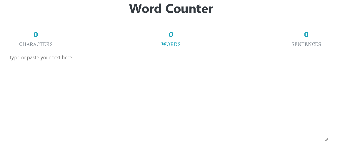 Word Counter Online