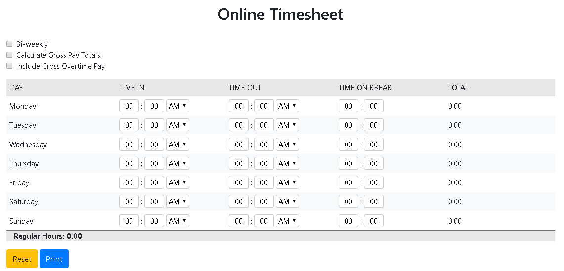 online timesheet app