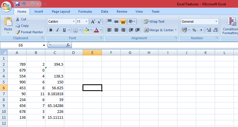 Microsoft Excel Features, Best Advanced Features of Excel
