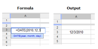 Google Sheets Advanced Date Functions