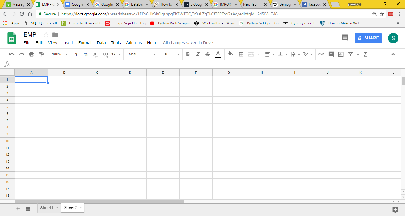 Import HTML Google Sheets