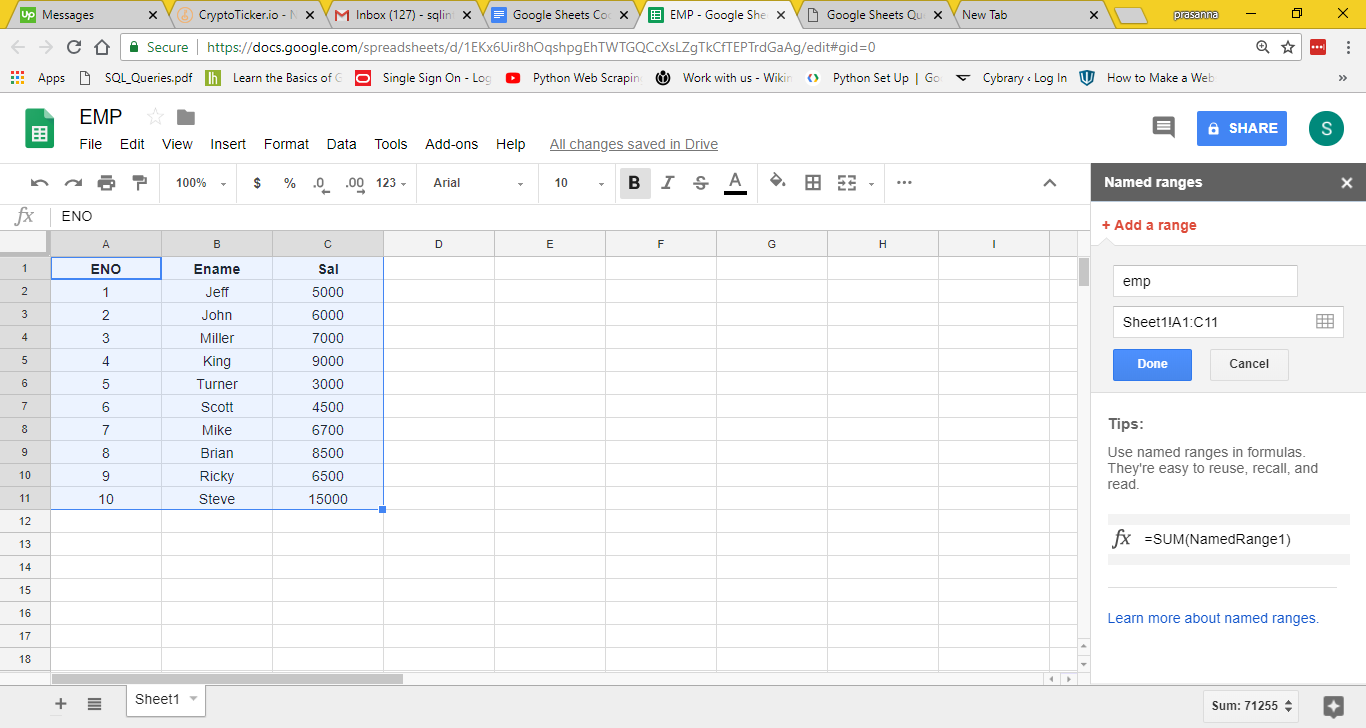 Google Sheets Query Functions