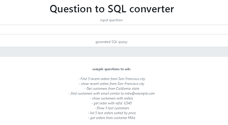 Question to SQL query