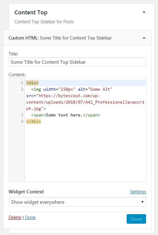 Adding a Website Widget