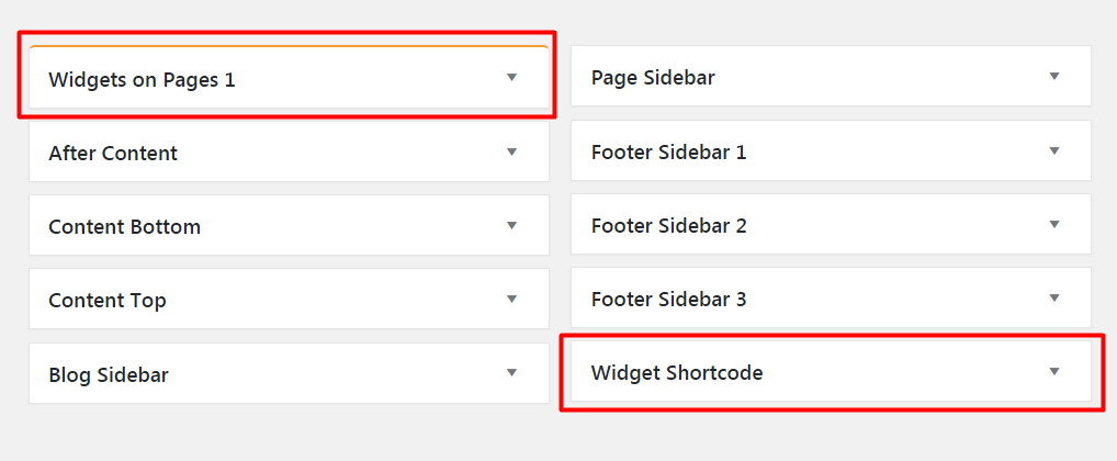 Add a Widget to Top of the Page