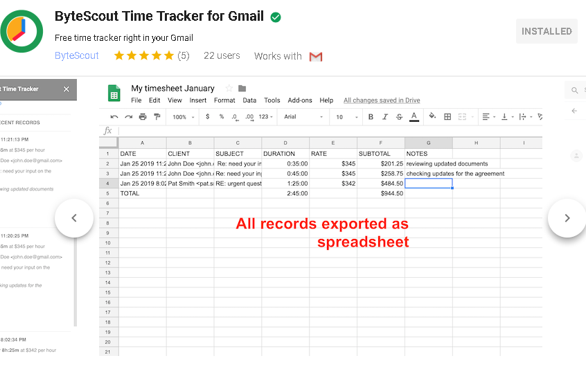 Online Time Tracker