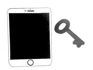 ipad with a key to unlock