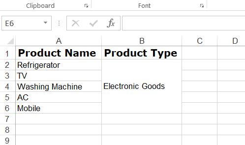 Format Excel