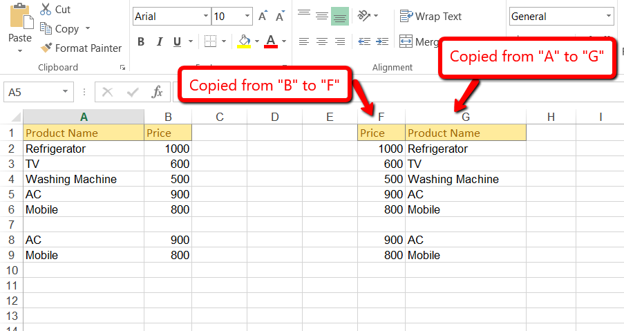 Creating, Formatting excel with various options using
