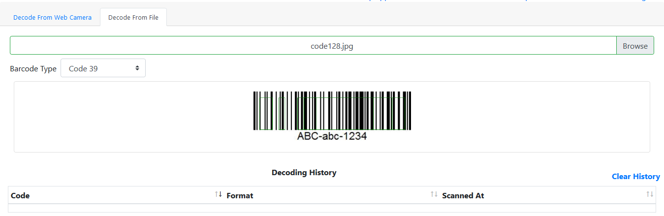 Barcode Reader Online Free from Camera, Online Barcode