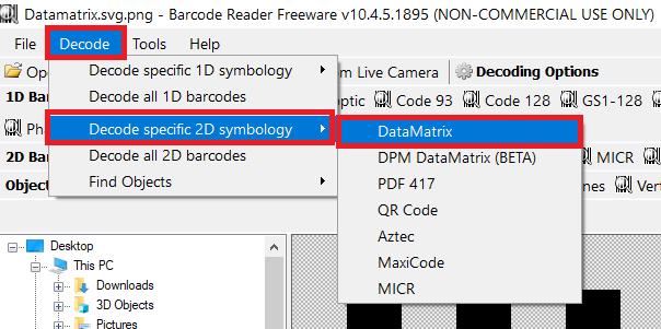 DataMatrix Barcoding Tools