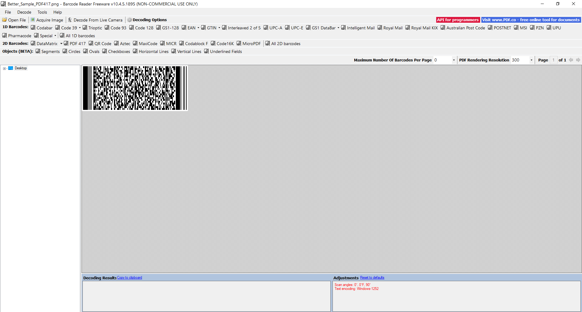 PDF417 Barcodes