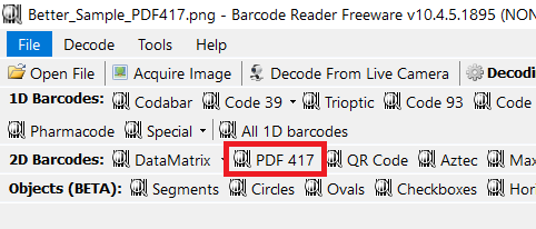 PDF417 Barcoding Tools