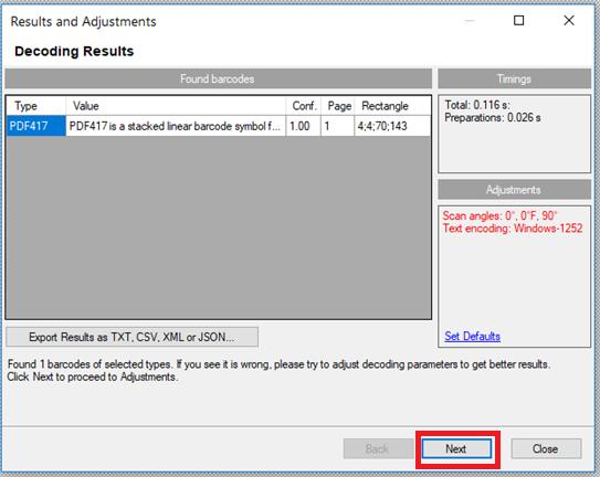 PDF417 Barcoding