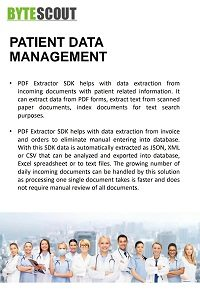 Patient Data Management Healthcare