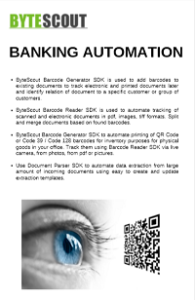 Whitepaper Banking BarCode SDK and BarCode Reader SDK