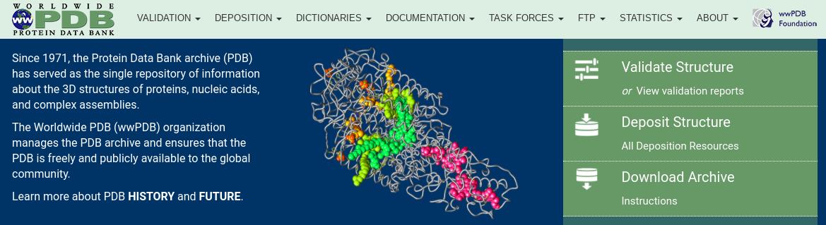 Protein Data Bank Data