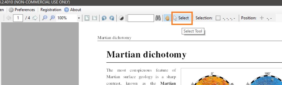 PDF Multitool's Select Tool Button