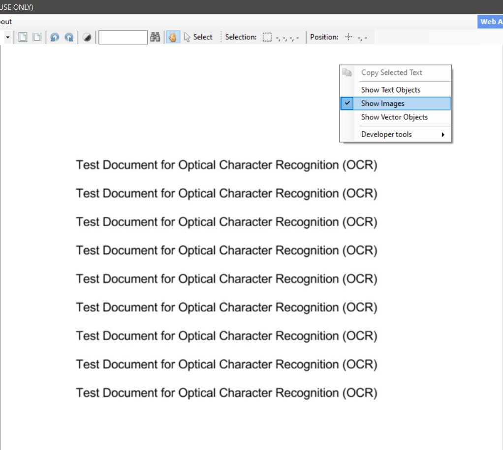 Toggle To Only Show Images In PDF