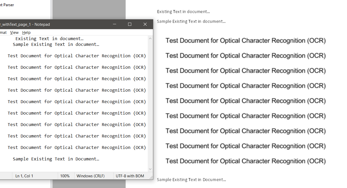 Scanned PDF's TXT Output