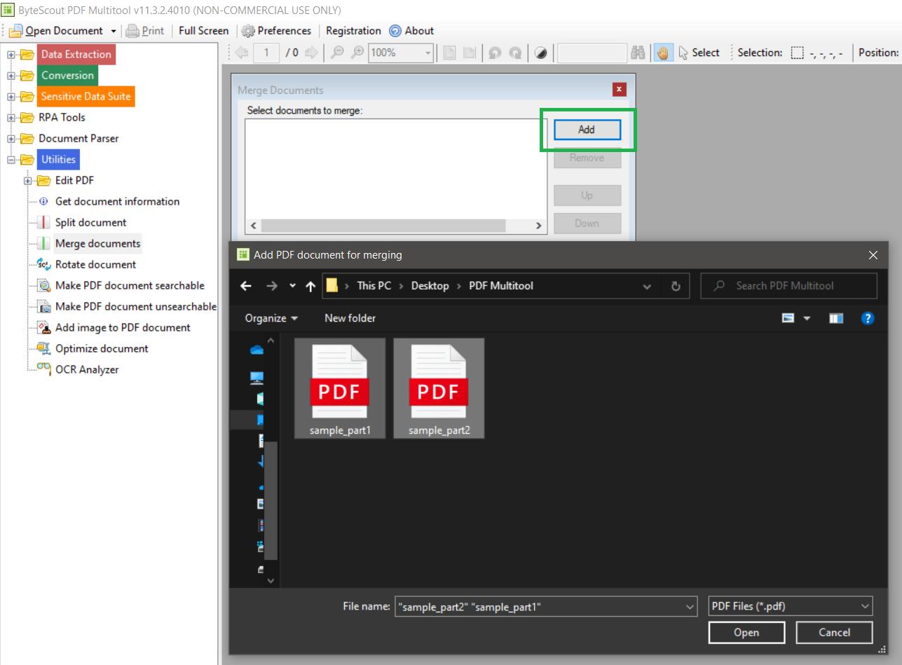 Add The PDF Files To Merge