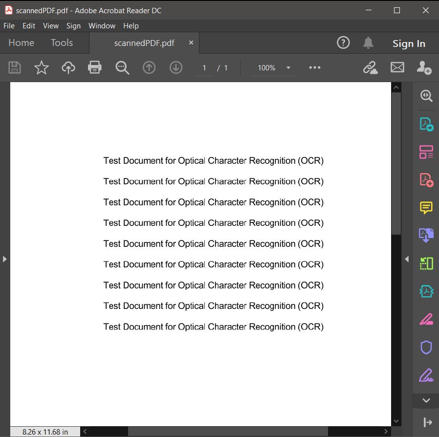 Scanned PDF Source File