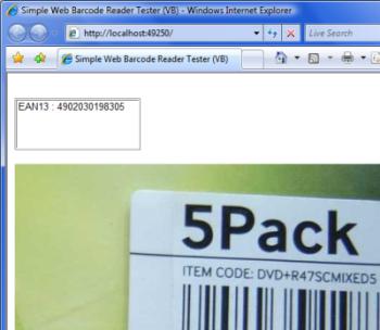 barcode reader asp net
