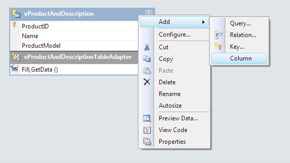 Add new column to DataTable