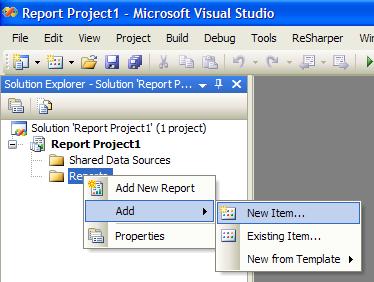 Reports - Add new item