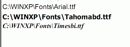 Text in PDF using fonts loaded from files
