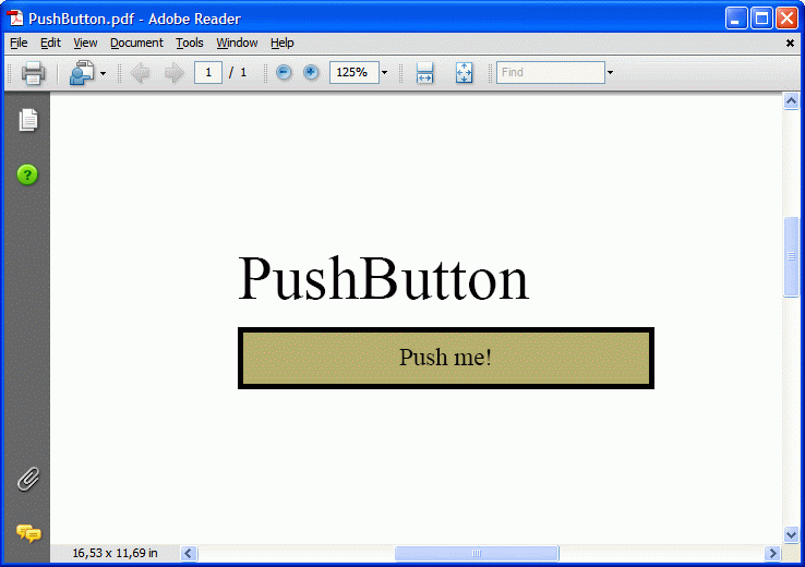 Push button in PDF form document generated with ByteScout PDF SDK