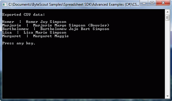 CSV data exported to SQL Server