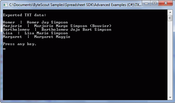 Exported text to SQL